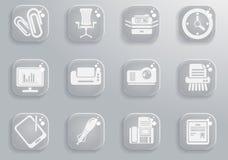 Εικονίδια γραφείων απλά Στοκ εικόνα με δικαίωμα ελεύθερης χρήσης