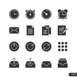 Εικονίδια γραφείων & επιχειρήσεων καθορισμένα - διανυσματική απεικόνιση Στοκ Εικόνες