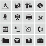 Εικονίδια γραφείων και οργάνωσης καθορισμένα Στοκ φωτογραφία με δικαίωμα ελεύθερης χρήσης