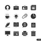 Εικονίδια γραφείων & μάρκετινγκ καθορισμένα - διανυσματική απεικόνιση Στοκ φωτογραφίες με δικαίωμα ελεύθερης χρήσης