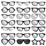 Εικονίδια γυαλιών στο άσπρο υπόβαθρο Στοκ Εικόνα