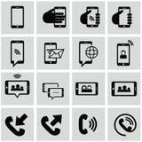Εικονίδια Διαδικτύου και δικτύων καθορισμένα Στοκ Εικόνες