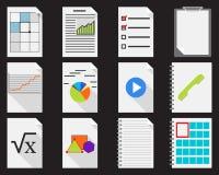 Εικονίδια εγγράφων απεικόνιση αποθεμάτων