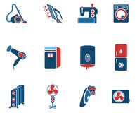 Εικονίδια εγχώριων applicances απλά Στοκ εικόνα με δικαίωμα ελεύθερης χρήσης