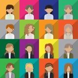 Εικονίδια ειδώλων επιχειρησιακών γυναικών Στοκ εικόνα με δικαίωμα ελεύθερης χρήσης