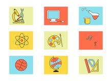 εικονίδια εκπαίδευσης που τίθενται Στοκ φωτογραφία με δικαίωμα ελεύθερης χρήσης