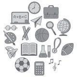 εικονίδια εκπαίδευσης που τίθενται Στοκ εικόνες με δικαίωμα ελεύθερης χρήσης