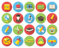 Εικονίδια εκπαίδευσης διανυσματική απεικόνιση