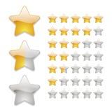 Εικονίδια εκτίμησης αστεριών Στοκ εικόνα με δικαίωμα ελεύθερης χρήσης