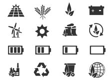 Εικονίδια εναλλακτικής ενέργειας Στοκ εικόνα με δικαίωμα ελεύθερης χρήσης