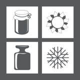 Εικονίδια επίσης corel σύρετε το διάνυσμα απεικόνισης Στοκ φωτογραφία με δικαίωμα ελεύθερης χρήσης