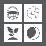 Εικονίδια επίσης corel σύρετε το διάνυσμα απεικόνισης Στοκ Εικόνα