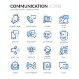 Εικονίδια επικοινωνίας γραμμών απεικόνιση αποθεμάτων