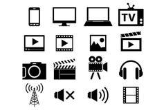 Εικονίδια επικοινωνίας Στοκ εικόνα με δικαίωμα ελεύθερης χρήσης