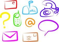 εικονίδια επικοινωνίας Στοκ Εικόνα