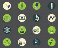 Εικονίδια επιστήμης καθορισμένα Στοκ φωτογραφίες με δικαίωμα ελεύθερης χρήσης