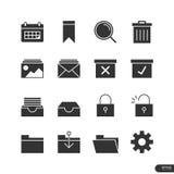 Εικονίδια επιχειρήσεων & γραφείων καθορισμένα - διανυσματική απεικόνιση Στοκ εικόνες με δικαίωμα ελεύθερης χρήσης