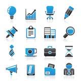 Εικονίδια επιχειρήσεων και γραφείων διανυσματική απεικόνιση