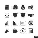 Εικονίδια επιχειρήσεων & χρηματοδότησης καθορισμένα - διανυσματική απεικόνιση Στοκ φωτογραφία με δικαίωμα ελεύθερης χρήσης
