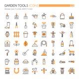 Εικονίδια εργαλείων κήπων Στοκ Φωτογραφία