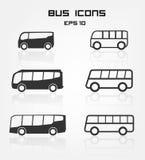 Εικονίδια λεωφορείων ελεύθερη απεικόνιση δικαιώματος