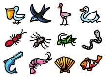 εικονίδια ζώων Στοκ εικόνες με δικαίωμα ελεύθερης χρήσης