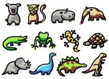 εικονίδια ζώων Στοκ φωτογραφίες με δικαίωμα ελεύθερης χρήσης