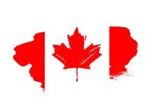 εικονίδια ημέρας του Καναδά κουμπιών που τίθενται Κόκκινη σημαία διανυσματική απεικόνιση
