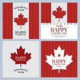 εικονίδια ημέρας του Καναδά κουμπιών που τίθενται Στοκ Φωτογραφία