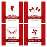 εικονίδια ημέρας του Καναδά κουμπιών που τίθενται Στοκ φωτογραφίες με δικαίωμα ελεύθερης χρήσης