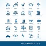 Εικονίδια δημόσια διαχείρισης Στοκ φωτογραφίες με δικαίωμα ελεύθερης χρήσης