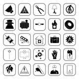 Εικονίδια ηλεκτρικής ενέργειας που τίθενται για τον Ιστό και κινητά Στοκ εικόνα με δικαίωμα ελεύθερης χρήσης