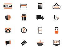 Εικονίδια ηλεκτρονικού εμπορίου απλά Στοκ φωτογραφίες με δικαίωμα ελεύθερης χρήσης