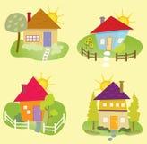 Εικονίδια θερινών σπιτιών Στοκ εικόνα με δικαίωμα ελεύθερης χρήσης