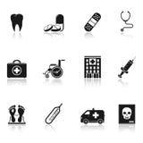εικονίδια ιατρικά Στοκ Φωτογραφίες