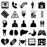 εικονίδια ιατρικά Στοκ Εικόνες