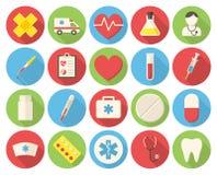 εικονίδια ιατρικά διανυσματική απεικόνιση