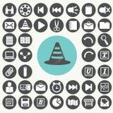 Εικονίδια διεπαφών εφαρμογής καθορισμένα Απεικόνιση αποθεμάτων