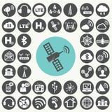 Εικονίδια δικτύων που τίθενται Ελεύθερη απεικόνιση δικαιώματος