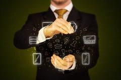 Εικονίδια δικτύωσης εκμετάλλευσης επιχειρηματιών Στοκ Εικόνες