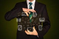Εικονίδια δικτύωσης εκμετάλλευσης επιχειρηματιών Στοκ εικόνες με δικαίωμα ελεύθερης χρήσης