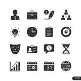 Εικονίδια διοίκησης επιχειρήσεων καθορισμένα - διανυσματική απεικόνιση Στοκ Εικόνες
