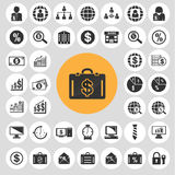 Εικονίδια διοίκησης επιχειρήσεων καθορισμένα Απεικόνιση αποθεμάτων