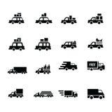 Εικονίδια διοικητικών μεριμνών και μεταφορών Στοκ φωτογραφία με δικαίωμα ελεύθερης χρήσης