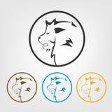 Εικονίδια λιονταριών ελεύθερη απεικόνιση δικαιώματος