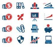 Εικονίδια Ιστού επιχειρήσεων και χρηματοδότησης Στοκ Εικόνες