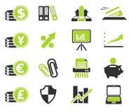 Εικονίδια Ιστού επιχειρήσεων και χρηματοδότησης Στοκ εικόνα με δικαίωμα ελεύθερης χρήσης