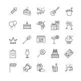 Εικονίδια Ιστού περιλήψεων - κόμμα, γενέθλια, διακοπές Στοκ εικόνες με δικαίωμα ελεύθερης χρήσης