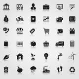 Εικονίδια Ιστού που τίθενται Στοκ Φωτογραφίες