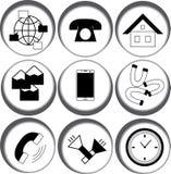 Εικονίδια Ιστού στον κύκλο Στοκ εικόνα με δικαίωμα ελεύθερης χρήσης